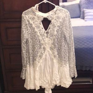 Free People black and white tunic dress